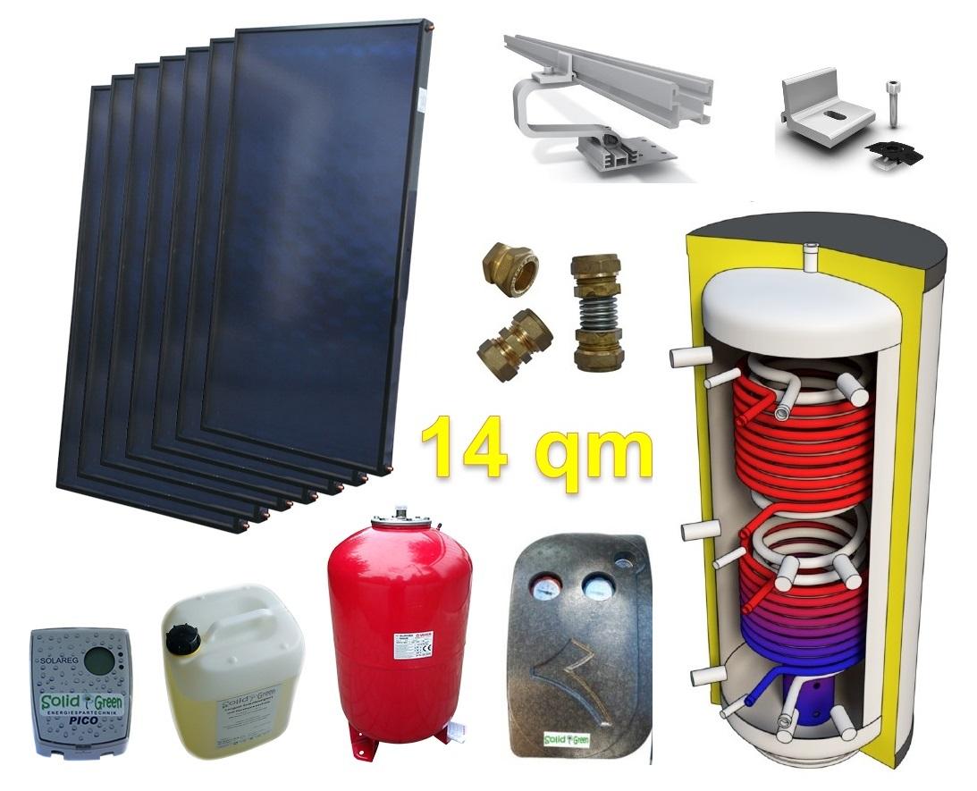 alpha solar solaranlage f r heizung und warmwasser amp 14qm g nstig kaufen. Black Bedroom Furniture Sets. Home Design Ideas